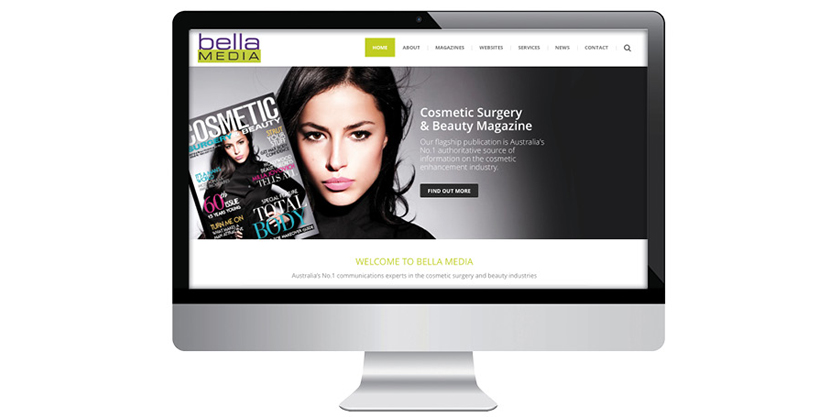 Bella media launches new corporate website